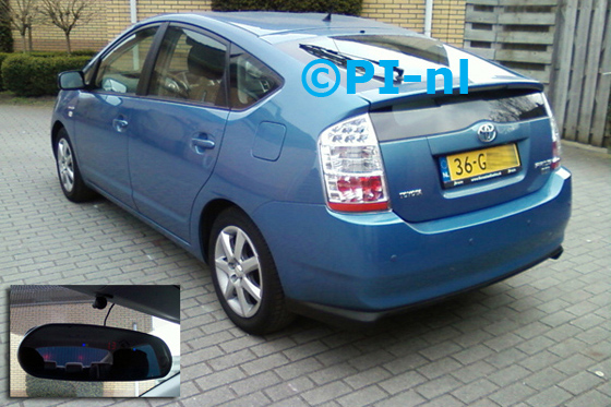 Toyota Prius uit 2008. De display (set C) is het 'spiegelmodel'.